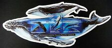 WHALE STAMPS SHEET FROM VANUATU SHAPED STAMPS BLUE WHALE HUMPBACK SEALIFE