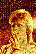 LARGE PHOTO MOSAIC POSTERS IN VARIOUS COLOURS - DAVID BOWIE No 15
