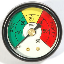 """NEW OIL PRESSURE GAUGE DIAL 60 PSI 20 SAFE 1/8"""" NPT guage NEW from USA"""