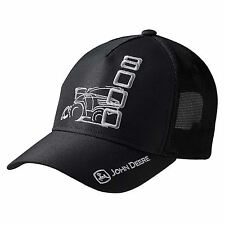 John Deere Black 8000 Baseball Cap Hat
