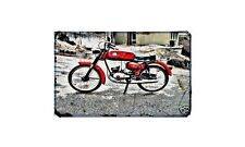 Garelli Junior Turismo Motorbike Sign Metal Retro Aged Aluminium Bike