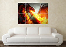 Large Dragon Fantasy Myth Gothic Magic Fire  Wall Poster Art Picture Print