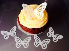 40 WHITE Edible Rice Paper/wafer BUTTERFLY Cake Toppers, Decorations Birthdays