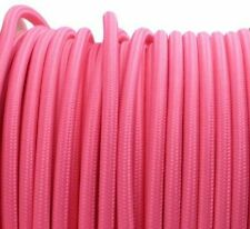 PINK vintage style textile fabric electrical cord cloth cable