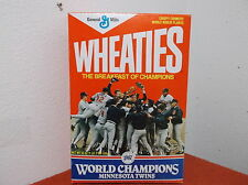 VINTAGE 1987 MINNESOTA TWNS WORLD CHAMPIONS WHEATIES CEREAL BOX...