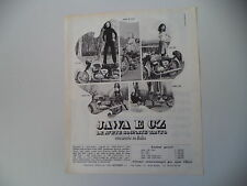 advertising Pubblicità 1970 MOTO CZ 125/175 e JAWA 350/250/90 TRIAL