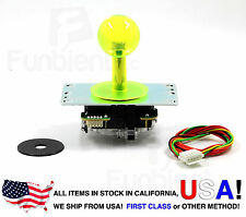 Sanwa Original Japan Arcade Joystick JLF-TP-8YT-SK Translucent Clear YELLOW Ball