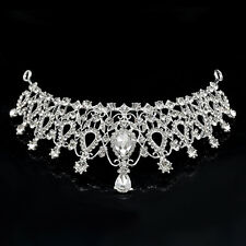 Crystal Bridal Wedding Rhinestone Hair Headband Crown Comb Tiara Prom Pageant