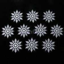 10x White Christmas Snowflake Scrapbooking Crafts Xmas Decoration Ornament