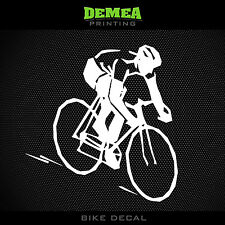 Cyclist Window Decal - Road Bike, Cycling - White or Choose Color