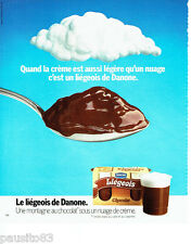 PUBLICITE ADVERTISING 066  1978  Danone  le liègeois chocolat