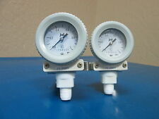 Lot of 2 JAT NKS Pressure Gauge with Gauge Protector 0 to 1 MPa