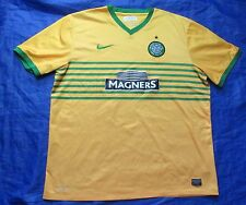 CELTIC GLASGOW away shirt by NIKE 2013-2014 /Yellow/ men/ XXL