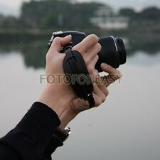 Camera Hand Grip for Canon Nikon Pentax Sony Olympus DSLR PU Leather Wrist Strap