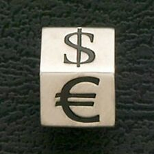Euro Money Dollar Sign Beads Stainless Steel Fit European Charm Bracelets Black