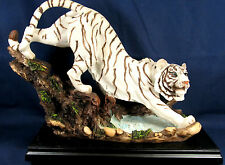 White Tiger at the Watering Hole wildlife Collectible Figurine Home Decor