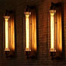 Black Vintage Industrial Metal Wall Lamp Sconce Light Fixture Edison Flute Wall