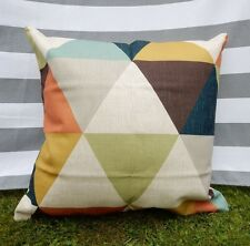 Triangle Pattern Cushion Cover, Designer, Brown, Taupe, Retro, Modern, Sofa
