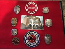 Vintage Waterloo IA Fire Badge Display - Badges - Patches