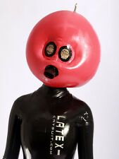 204 Latex Rubber Gummi Inflatable Masks Hoods clubwear customized catsuit 0.4mm