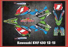 Kawasaki KXF450 12-15 KX 450F CUSTOM MADE RETRO GRAPHIC KITS DECAL TORQ!