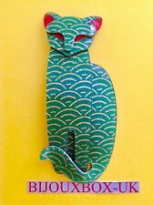 LEA STEIN EGYPTIAN CAT  BROOCH. Free post worldwide.