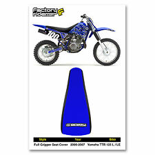 2000-2007 YAMAHA TTR 125 L-LE Black/Blue GRIPPER SEAT COVER BY Enjoy Mfg