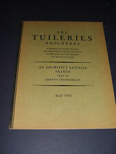 May 1932 Tuileries Brochures a Series of Monographs by Samuel Chamberlain