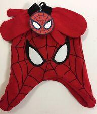 Spider Man Toddler Beanie Mittens Set NWT Marvel