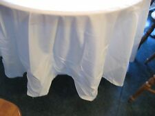 Table Cloth 90 inch round NEW Ivory Why Rent?  Own !    Hard to find Ivory