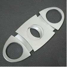 STAINLESS STEEL CIGAR CUTTER NIPPER CLIPPER TWIN BLADE KNIFE SMOKING ACCESSORY s