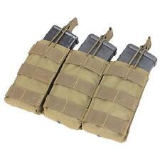 Condor - Triple 5.56 Open Top Mag pouch - TAN - Tactical clip Molle - #MA27