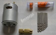 Small PCB Drilling Press Kit 12V with 0.8/0.9/1.0/1.1/1.2/1.3/1.4/1.5mm Drill