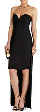 "$338 BCBG MAXAZRIA BLACK ""KRISTENE"" STRAPLESS HIGH LOW LONG DRESS NWT 0"
