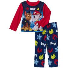 Nickelodeon Paw Patrol Toddler Boys Long Sleeve Pajama Sleepwear Set Size 5T