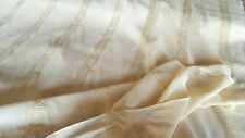 """Peach Sheer Fabric with Stripe Design!!  47"""" Wide!!  SOLD BY THE YARD!!"""