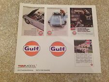 1/18 TSM GULF OIL STICKER SET MODIFIED TUNING UBMAU GARAGE WORKSHOP DIORAMA