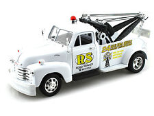 "Welly 1953 Chevrolet 3100 Tow Truck 1:24 scale 8"" diecast model White W214"