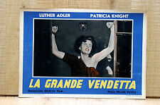 LA GRANDE VENDETTA fotobusta poster Luther Adler Patricia Knight The Magic Face
