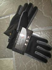 NEW ISOTONER WATERPROOF GLOVES MENS M/L ULTRA DRY LINING GRAY #A75483 FREE SHIP
