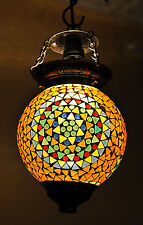 Indian Antique Glass Hanging Pendant Ceiling Lamp Swag Turkish Xmas Lampshade