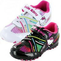 Girls Hello Kitty Rainbow Trainers Shoe Sizes 7-1 Velcro