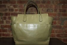 Authentic Reed Krakoff Olive Green Leather Large  Tote Handbag