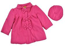 Penelope Mack Toddler Girls Rasberry Part Wool Jacket W/Hat Size 2T