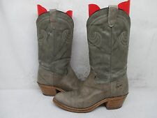 Texas Brand Marble Gray Leather Cowboy Boots Size 8.5 D Style 5402 USA