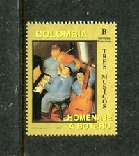 Colombia 1089, MNH, Famous People Tree Musicants by Fernando Botero 1993. x23411
