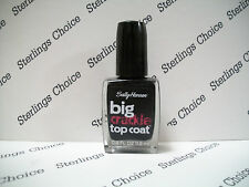 Sally Hansen Big Crackle Top Coat #100 Black On