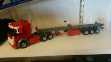 LEGO CITY CUSTOM TRUCK PLUS TRI AXL SKELETON CONTAINER TRAILER L@@K