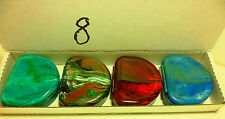 4 Denture Retainer Cases Colors - Slight Surface Blemishes- NO STONE OR LABEL