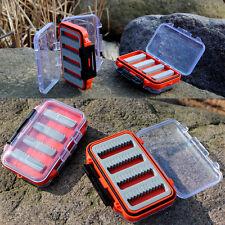 Double Side Waterproof Plastic  Foam Fly Fishing Lure Bait Hook Storage Case Box